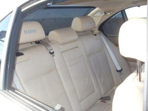 540i Back Seat w/ Aftermarket BMW Headrest Decals