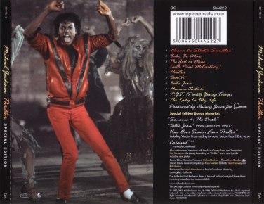Michael Jackson - Thriller Special Edition (trasera)